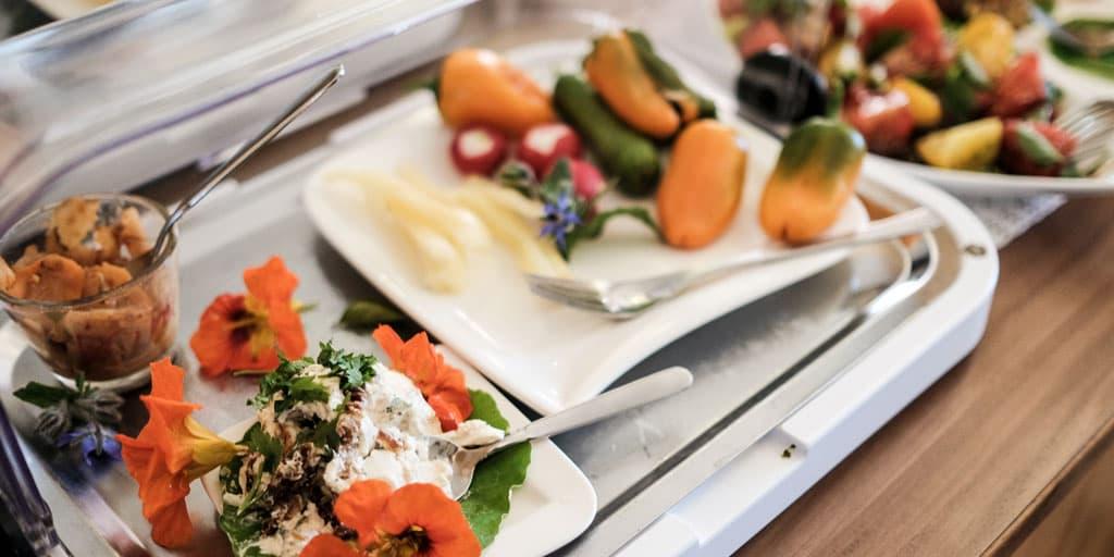 Frühstücksbuffet im Hotel Hügellandhof im Burgenland